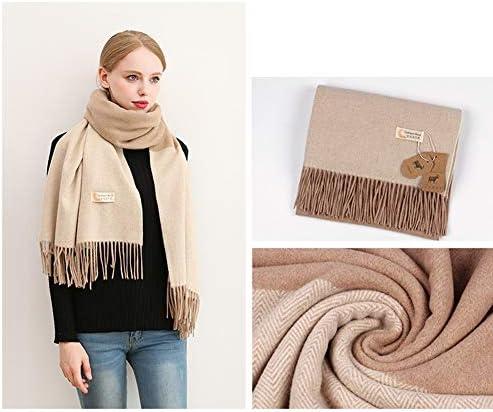 メンズパーカー ヨーロッパとアメリカのフリンジ付きスカーフカラーマッチング暖かいウールスカーフ秋と冬のファッション新しいショールラップ (Color : D)