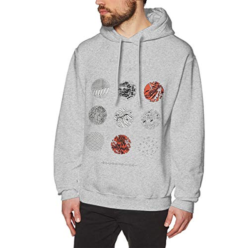 MDClothI Men's Blurry Face Casual Style Sports Hoodie -