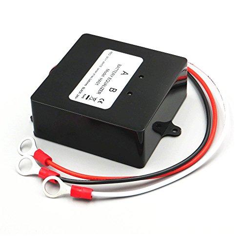 Battery Equalizer 24V, Max 2 × 12V Batteries Voltage Balancer for Gel Flood AGM Lead Acid Lithium Battery Bank Extend Service life 1 Years More Gel Battery Voltage