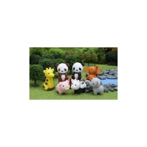 Iwako mignon Puzzle japonais démonter Gommes animaux de zoo Ensemble de 7 avec recyclable sans PVC Matériel Jouet / Jeu / Lecture / enfants / enfants