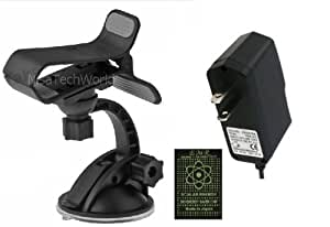 Yezz Chico 2 YZ201 -- Rapid New Wall Home Travel Socket Charger + Car Phone (GPS - MP3) Holder Windshield Gooseneck Air Vent Suction Mount (Bundle Kit Pack) (PLUS FREE SCALAR ANTI RADIATION CHIP)