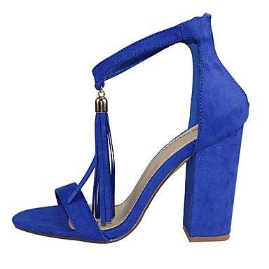 LvYuan Mujer-Tacón Robusto-Otro-Sandalias-Vestido Informal Fiesta y Noche-Tejido-Negro Azul Rojo Blue