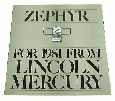 1981 81 Lincoln Mercury ZEPHYR BROCHURE