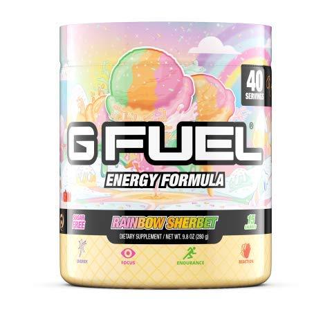 G Fuel Rainbow Sherbet Tub (40 Servings) Elite Energy and Endurance Powder