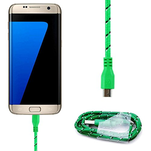 Halloween Black Contact Lenses (Ammazona Micro USB 3M 10FT Data Cable Data Sync Cable Charger For Samsung Galaxy S7 edge (Green))