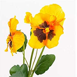 Skyseen 5PCS Artificial Pansy Viola Fake Flowers Arrangement Home Wedding Decor 16