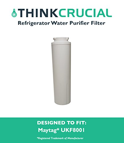Maytag UKF8001 (RFC0900A) Pur Replacement Refrigerator Water Purifier Filter, Fits Maytag, Kenmore, Amana, Aqua Fresh, & Swift Green Refrigerators, by Think Crucial