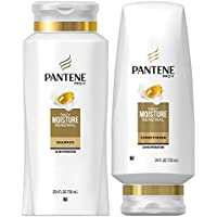 Pantene Pro-V Daily Moisturizing Shampoo 25.4 oz and Sulfate Free Conditioner 24 oz for Dry Hair