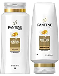 Pantene, Shampoo and Conditioner Kit, Pro-V Daily Moisture Renewal for Dry Hair, 25.4 oz and 24 oz, Kit