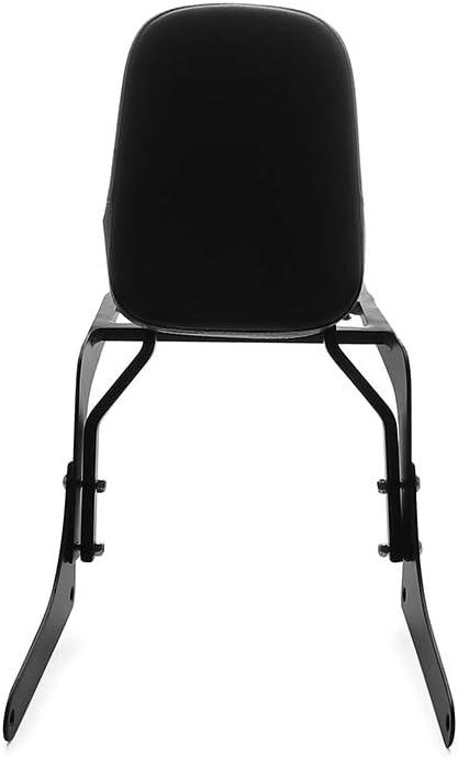 MotorFansClub Sissy Bar Backrest Luggage Rear Rack Passenger Back Seat Cushion Fit For Compatible With Honda CA250 Rebel 250 CMX250 Black