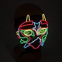 Artbro Máscara de Halloween con luz LED Mascarada Luminosas ...