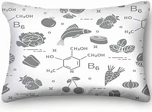 best bags Foods Rich Vitamin B 6 Healthcare Medical Skin Cool Super Soft and Luxury Pillow Cases Covers Sofa Bed Throw Pillow Cover with Envelope Closure 1624 Inch
