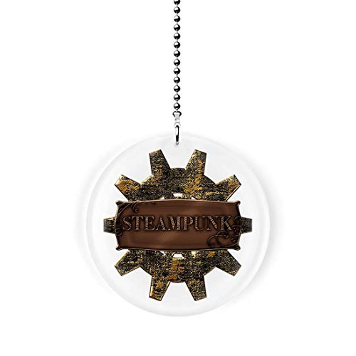 Steampunk Cog Fan/Light Pull