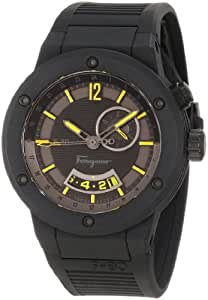 Salvatore Ferragamo Men's F55LGQ6875 S113 F-80 Stainless Steel and Black Rubber Watch