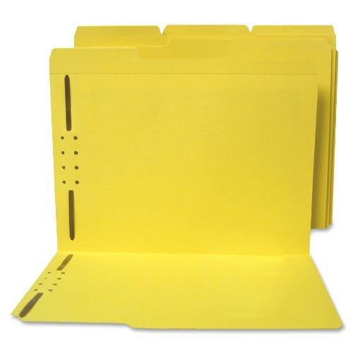 - S J Paper S11542 S J Paper Water/Paper Cut-Resist File Folders, 1/3 Cut, Top Tab, Ltr, YW, 50/Box by SJ PAPER
