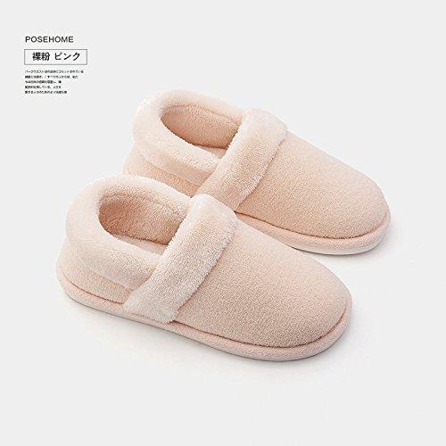 Cotton divertissement Hommes Femmes antiglisse d'hiver Padded Slipper Chaussures Chaussons en LaxBa poudre Un intérieur chauds peluche 48nOwWxCq