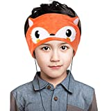 Homelove Wired Kids Headphones with Ultra Thin Adjustable 1/8'' Speakers Soft Fleece Headband or Patch for School or Home Fox