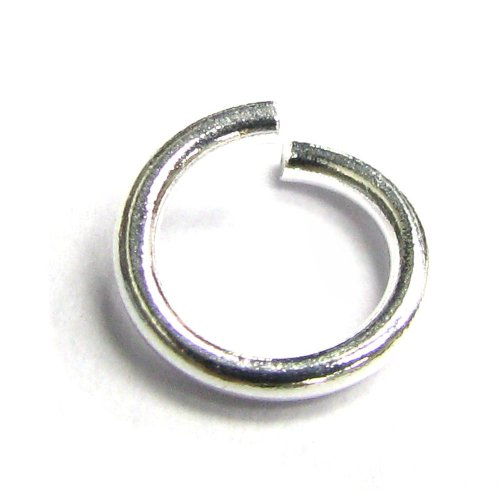 20 pcs 925 Sterling Silver 7mm 18ga Wire Open Jump Rings/Findings/Bright