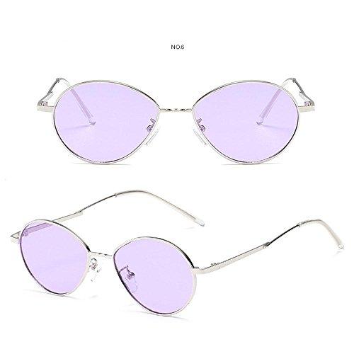 personalizables puntas para retro de niños de sol gafas adolescentes hombres niñas UV400 de marco con círculo Aolvo bols de de diseño de sol con antideslizantes metal Morado unisex Gafas mujer Cateye 1Pqdagxg