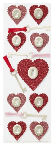 - Martha Stewart Crafts Glitter Heart and Key Stickers
