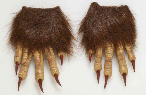 Forum Novelties Men's Werewolf Latex Claw Hands Costume Accessory, Brown, One (Werewolf Costume Gloves)