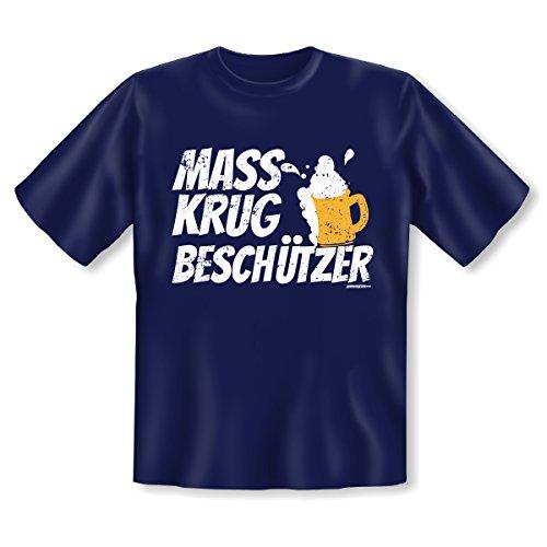 Cooles Volksfest - Oktoberfest T-Shirt - moderne bayrische Tracht : Mass / Mass Krug Beschützer -- Goodman Design® Gr: 5XL Farbe: navy-blau