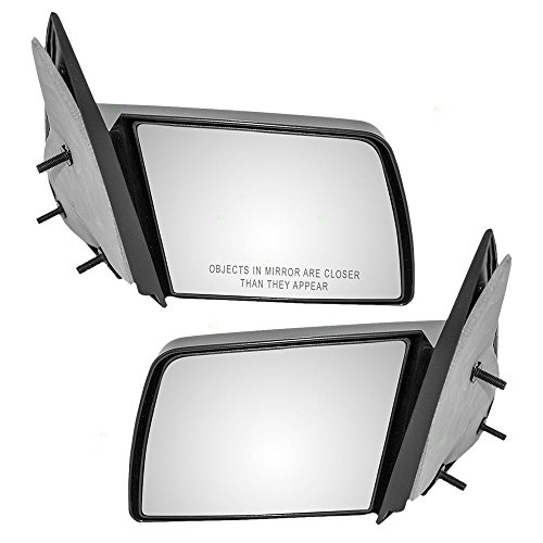 Chevrolet C1500 Mirror - Pair Set Manual Side View Mirrors Sail Mounted Replacement for Chevrolet GMC Pickup Truck Blazer Tahoe Suburban Yukon 15697335 15697336 AutoAndArt