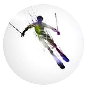 alfombrilla de ratón esquí de fondo - ronda - 20cm