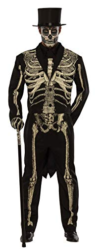 Pizazz! Men's Adult Dead Bones Costume, Black/White, 2XL