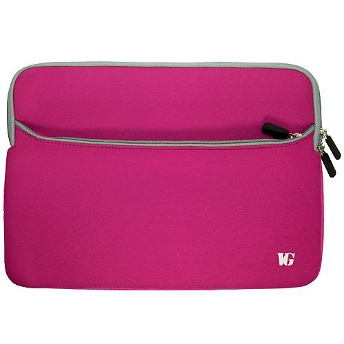 Magenta Durable Neoprene Protective Laptop Sleeve Cover for HP EliteBook Notebook 12.5 inch Model 2560p / 2570p / 2760p + SumacLife TM Wisdom Courage - Friday Black Wristbands