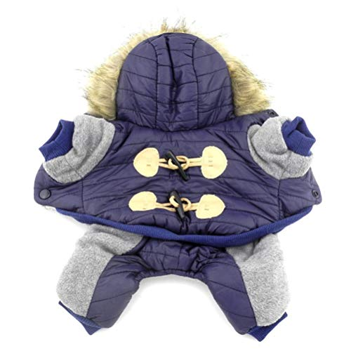 RSHSJCZZY Pupppy Fleece Snowsuit Hooded Coats Small Dog