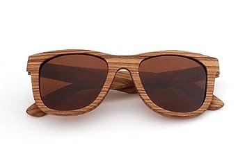TianXY Gafas De Madera De Bambú Gafas De Sol Cebra con ...