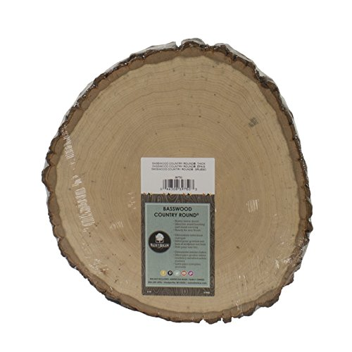 Oval Event Platter - Walnut Hollow Basswood Country Round, Thick for Woodburning, Home Décor and Rustic Weddings