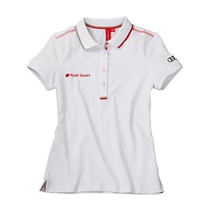 Audi 3131202116 Sport Polo para Mujer, Blanco, Talla XXL: Amazon ...