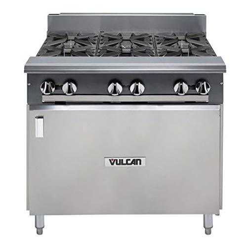 "Vulcan V6B36B 36"" 6-Burner Gas Range w/Cabinet Base, LP"