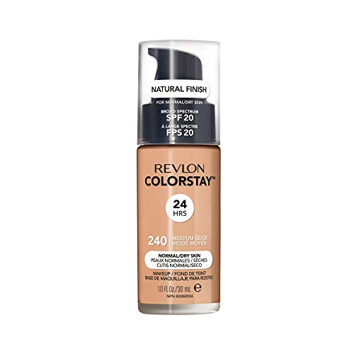 Revlon ColorStay Liquid Foundation For Normal/dry Skin, SPF 20, Medium Beige, 1 Fl Oz (Medium Beige Foundation)