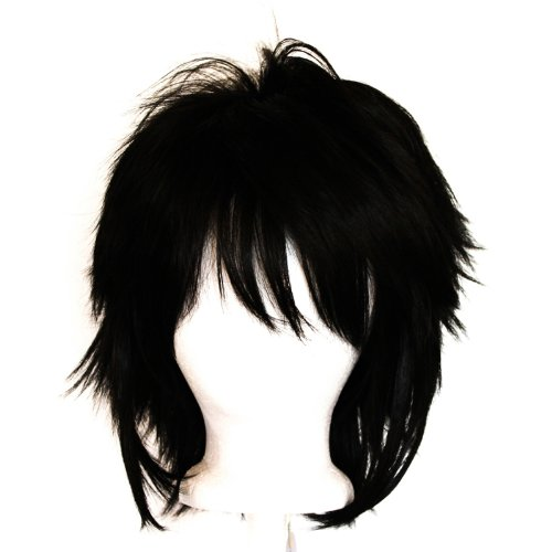 Touya - Natural Black Wig 13'' Shaggy Messy w/ Long -