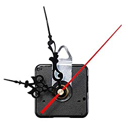 CocinaCo 12mm Quartz Silent Clock Movement Mechanism DIY Wall Clock Hour Minute Second Hand Without Battery