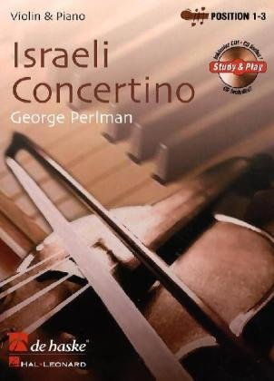 Israeli Concertino Bk/cd Vln & Piano Position 1-3 (easy -intermd) (De Haske Play-Along Book)