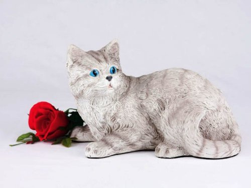 Shorthair Gray Tabby Cat Urn product image
