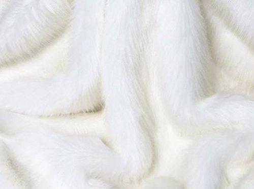 Mont Blanc Luxury Faux Fur Throw Blanket (94 x 55 inches) (Fur Wolf Throw Faux Uk)