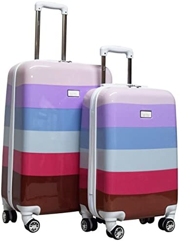 Nicole Miller New York Rainbow Hard-Sided 2-Piece Spinner Set 24 and 20