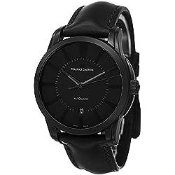 Maurice Lacroix Men's Pontos Black Dial Black Leather Strap Automatic Watch PT6148-PVB01-330