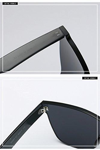 Sol para de Gafas de con Sol Mujer Corazón Forma Blue 2x14x14 5 Azul de Puente Gafas Diseño Azul Resina UV de 6cm Bridge Negro w75Ev