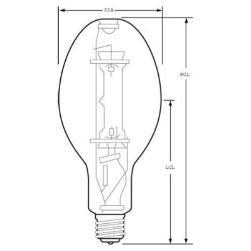 GE Lighting 23998 400-watt 22600-Lumen ED37 Light Bulb with Mogul Screw E39 Base, 6-Pack
