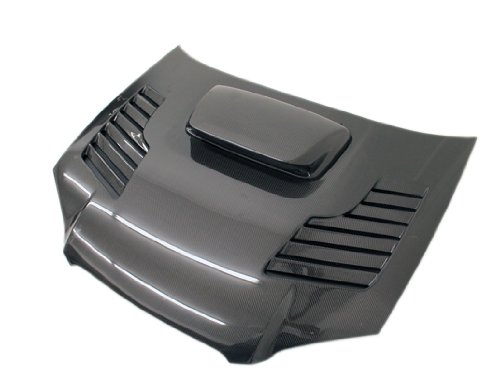 VIS Racing 04SBWRX4DTRA-010C - Subara Wrx Tracer Carbon Fiber Hood W/ Sti Scoop - Tracer Carbon Fiber Hood