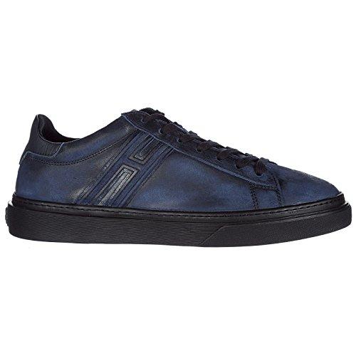 Baskets Chaussures Cuir Homme Hogan blu h340 Sneakers Hogan Chaussures en q0nEptw
