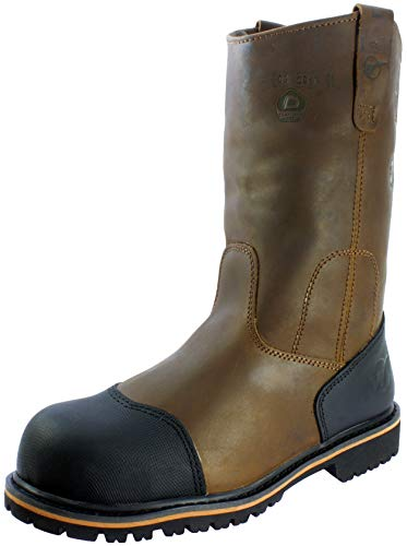 Westland Men's PW Composite Toe Waterproof Anti-Puncture Leather Nitrile Rubber Outsole Wellington Work Boot (9) Coffee Brown