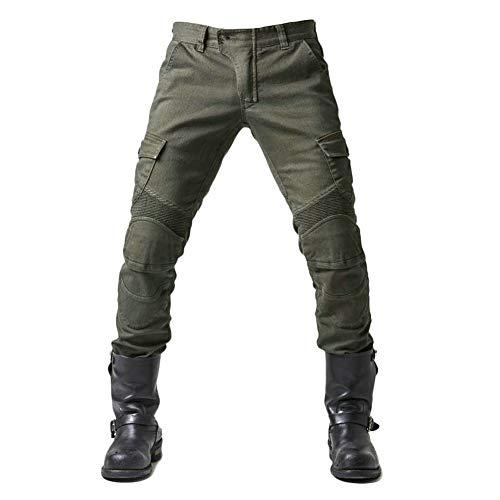 XIONGGG Herren-Motorrad-Jean-Hosen REIT Jeans Schutz Futter Motorradhose Mit 2 Paar Protect Pads Jeans