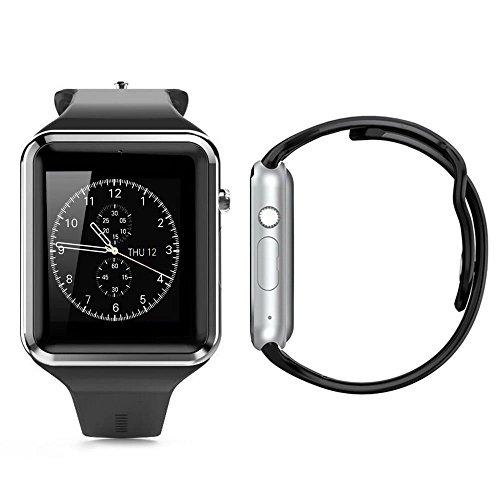 - Smart Watch,Touchscreen,smartwatch Bluetooth, Fitness Tracker Phone SIM SD Card Slot Camera Pedometer Compatib, for Women Men Kids (Black)